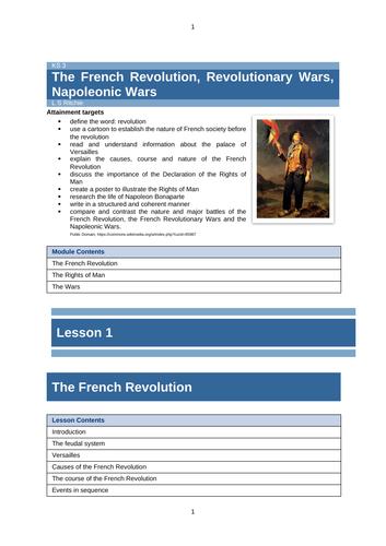 The French Revolution, Revolutionary Wars, Napoleonic Wars