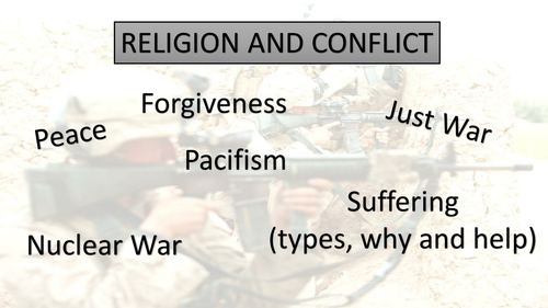 WJEC GCSE RS Believing and Experiencing - Religion and Conflict quiz