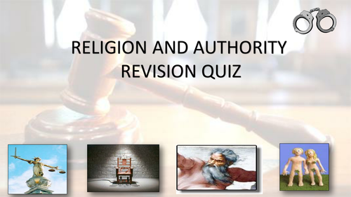 WJEC GCSE RS Believing and Experiencing - Religion and authority revision quiz