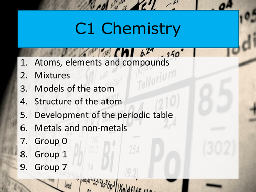 Aqa 9 1 chemistry lesson 1 atoms elements and compounds 100 aqa 9 1 chemistry lesson 1 atoms elements and compounds 100 minutes by gumgamble teaching resources tes urtaz Choice Image