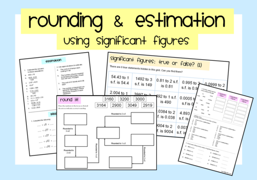 rounding estimation using significant figures by mathspaduk teaching resources. Black Bedroom Furniture Sets. Home Design Ideas