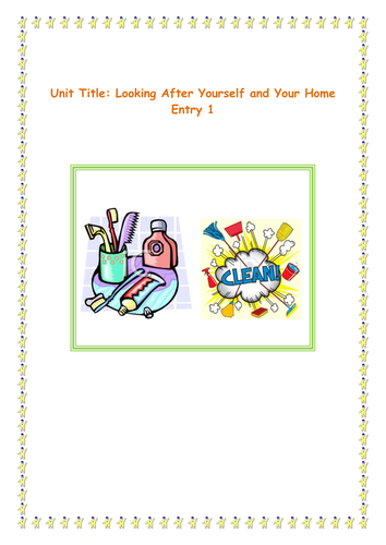 Looking after yourself and your home E2