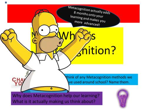 Metacognition reflection lesson