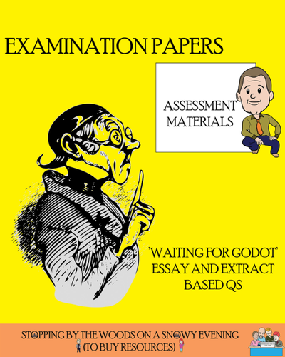 Waiting For Godot  Examstyle Questions By Robertfrost  Teaching  Waiting For Godot  Examstyle Questions By Robertfrost  Teaching  Resources  Tes Business Plan Writer Program also The Thesis Statement Of An Essay Must Be  Examples Of Essay Proposals