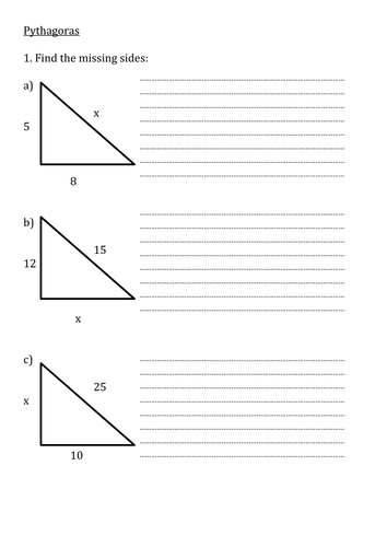 KS3 Maths Revision Questions -Area/Perimeter/Circumference/Quadratics/Pythagorus