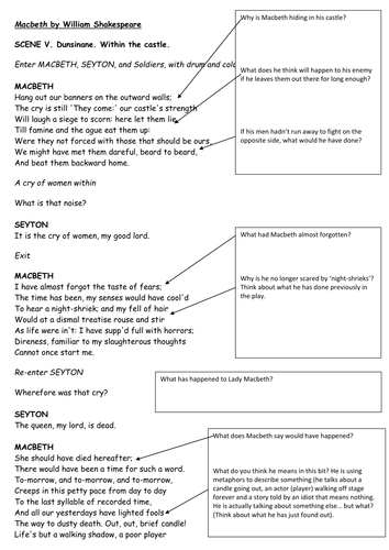 Macbeth: Act 5 Scene 5 analysis