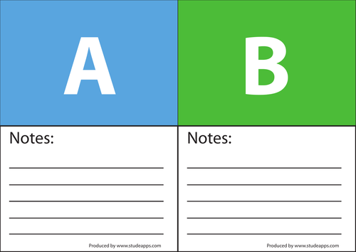 Voting cards for multiple choice questions