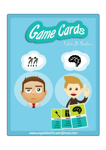 Taboo Game Cards for ESL