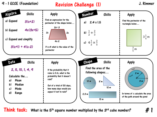 GCSE Maths Resources – Free Gcse Maths Worksheets