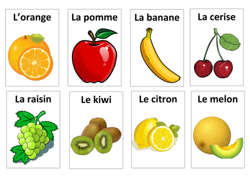 French Food Flashcards With Pictures 11263105 on Kindergarten Worksheets Color Orange