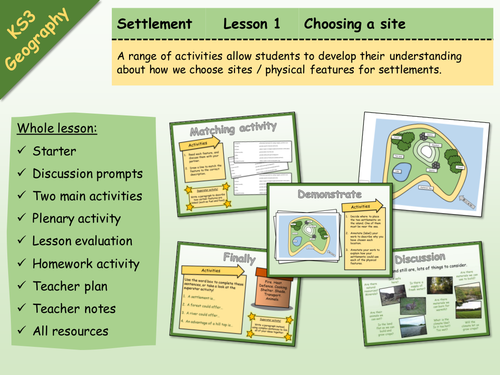 KS3 Geography - Settlement - 1 - Choosing a site