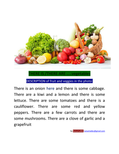 There is. There are. Fruit and Veggies. NatashaBBC