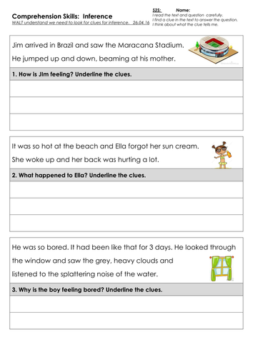 Brazil Related Comprehension Skills - Inference, Language, Question words