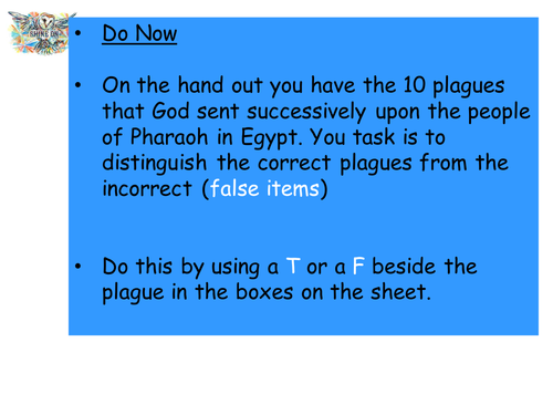 Moses and the 10 Plagues