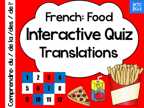 French Interactive Quiz: Food