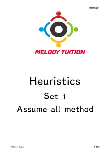 Singapore Math Heuristics