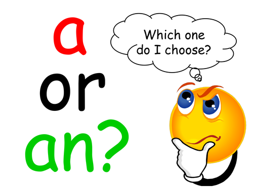 a or an Tutorial worksheets by elasticbandy Teaching – A and an Worksheets