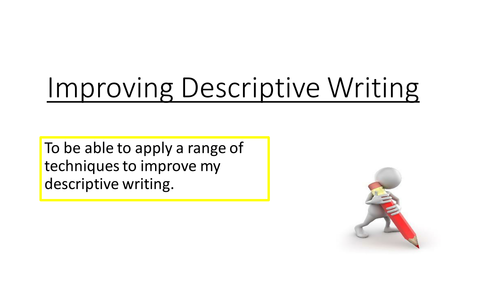 20 Minute Interview Lesson (descriptive writing)