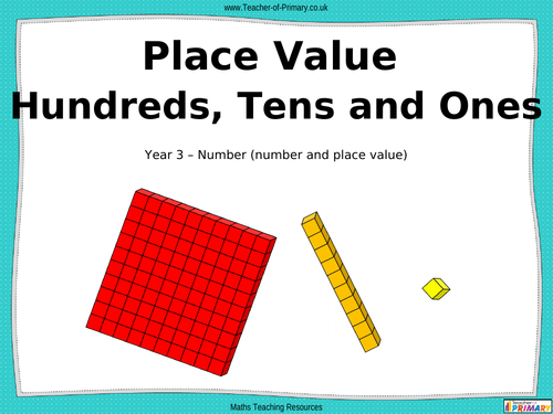 place value hundreds tens and ones powerpoint presentation and worksheets by teacher of. Black Bedroom Furniture Sets. Home Design Ideas
