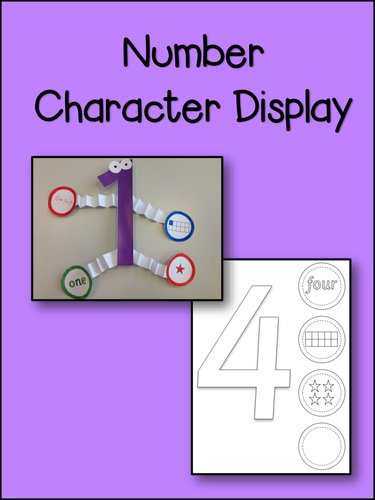 Number Display 1-10 Characters to Create