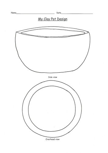 Clay pot design template