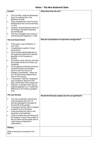 Worksheets Russian Revolution Worksheet russian revolution bolshevik new society worksheet by nmcdonald teaching resources tes