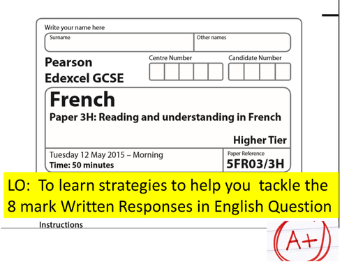 edexcel gcse french coursework mark scheme Edexcel gcse astronomy - in a hurry decided to go down the edexcel gcse astronomy and coursework marking guidance (the mark.