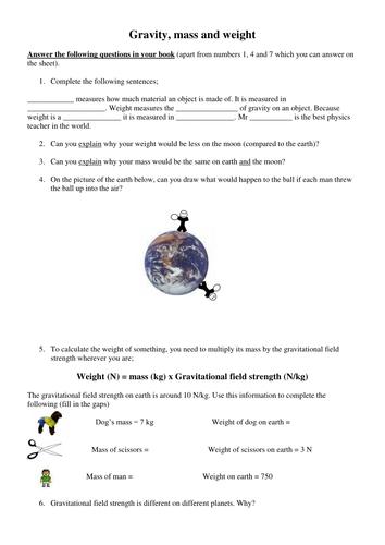 Gravity, mass and weight