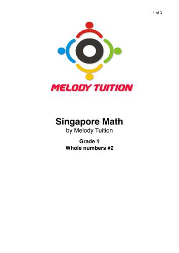 Grade 1 Whole numbers worksheet #2 - Singapore Math
