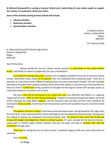 Formal Letter Bitesize