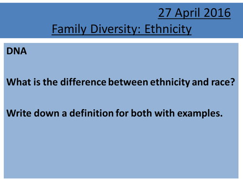 Sociology H580 / H180 Family Diversity: Ethnicity