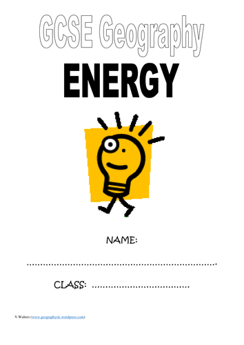 GCSE Energy question booklet