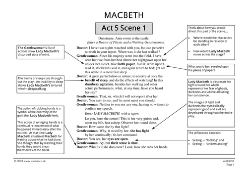 Macbeth Act and Scene Summaries