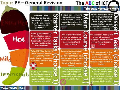 tudor menu template - takeaway homework template by teachertoolkit by rmcgill