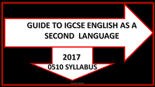 IGCSE English as a Second Language- Guide