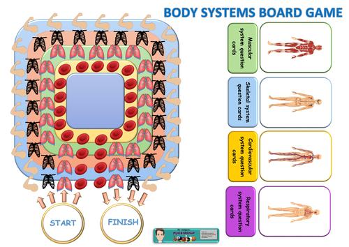 GCSE PE body systems board game
