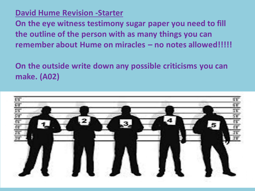 OCR A2 -David Hume Revision