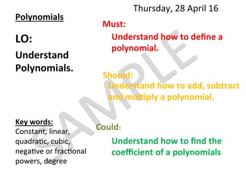 Polynomials Sample