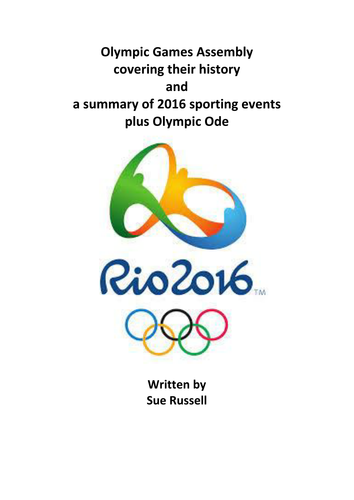 Rio 2016 Olympic Games Assembly including history events and ode