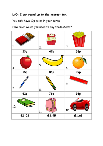 Teaching Resources Worksheets Rounding Numbers To The