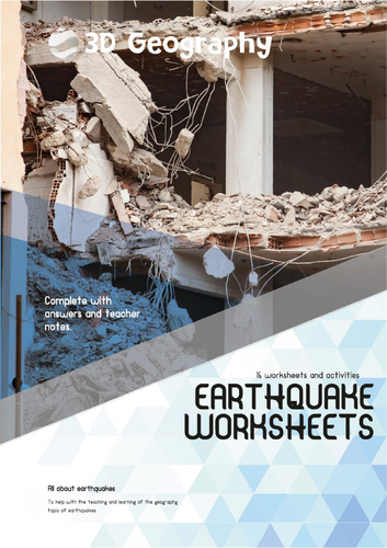 Earthquake worksheets complete with answers by idj - Teaching ...
