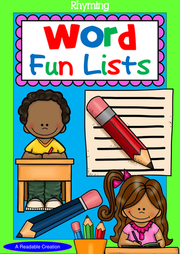 Rhyming Word Fun Lists (Year 1 - 4)