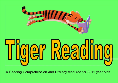 Tiger Reading- Green Level- comprehension and literacy task cards for upper primary