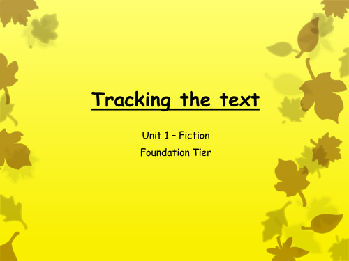 Tracking the Text - Unit 1 English Lanaguge Comprehension Questions Blind Bill Paper