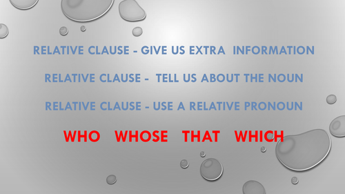 Relative Clause Song