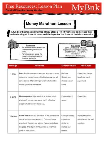 Money Marathon Board game