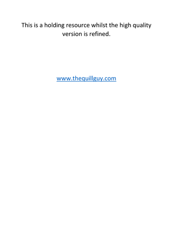 Coming Soon: English Rubrics Resource