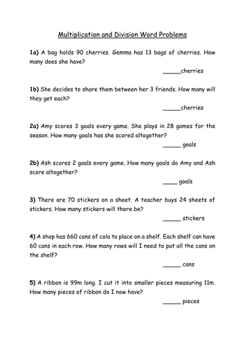 Worksheets K5 Learning Grade 2 Math Story Sums Measurement division worksheets story problems multiplication and word by rachdf teaching