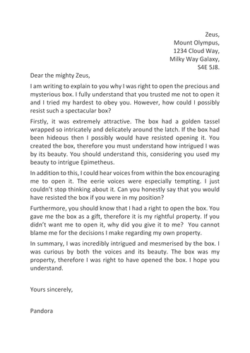 Writing a job application letter ks2