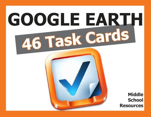 Google Earth **TASK CARDS**